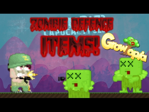 Growtopia - ALL ZOMBIE DEFENCE ITEMS!