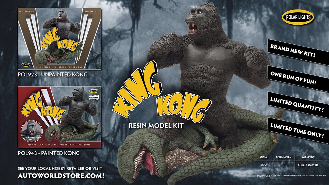 King Kong resin model kit by Polar Lights / Round 2