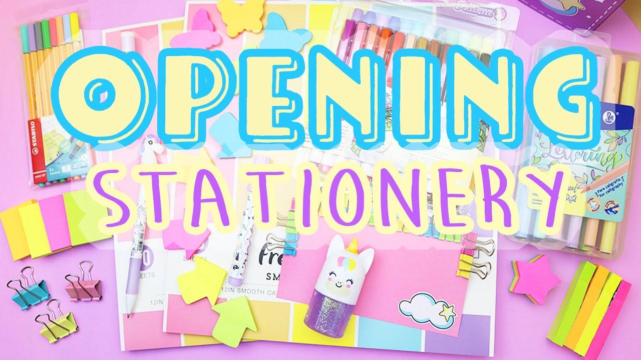 Opening STATIONERY - Unboxing beautiful Stationery | aPasos Crafts DIY