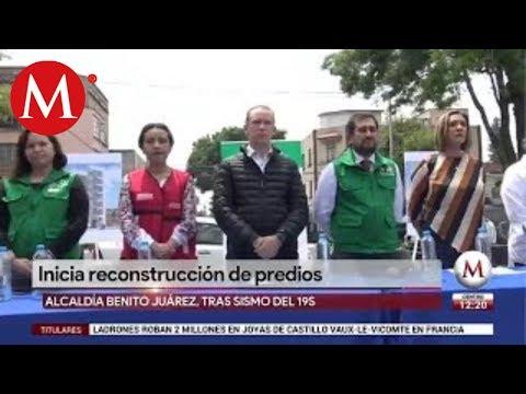 Inicia reconstrucción de predios en la alcaldía Benito Juárez