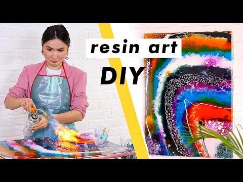 КАРТИНА ИЗ ЭПОКСИДНОЙ СМОЛЫ: RESIN ART