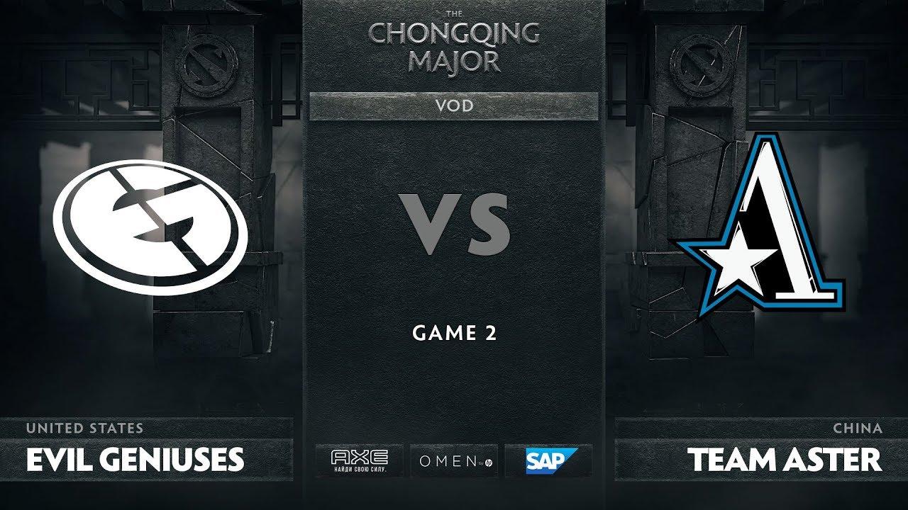 [RU] Evil Geniuses vs Team Aster, Game 2, The Chongqing Major Group D