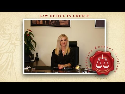 Presentation of the Law Office of Mrs Kasatkina-Kouskou Svetlana