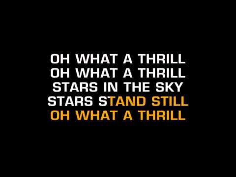 The Mavericks - Oh What A Thrill (Karaoke)