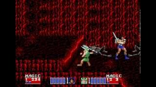Golden Axe II Sega Genesis 2 player hard 60fps