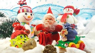 Развивающее видео: Дед Мороз и снеговики спасают машинки