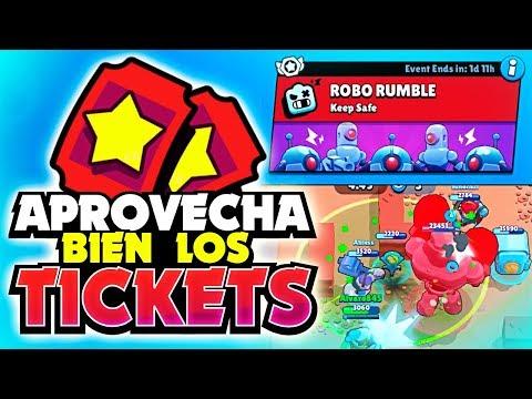 APROVECHA BIEN LOS TICKETS DE ROBO RUMBLE ¡¡LA MEJOR FORMA DE PROGRESAR!! | Brawl Stars
