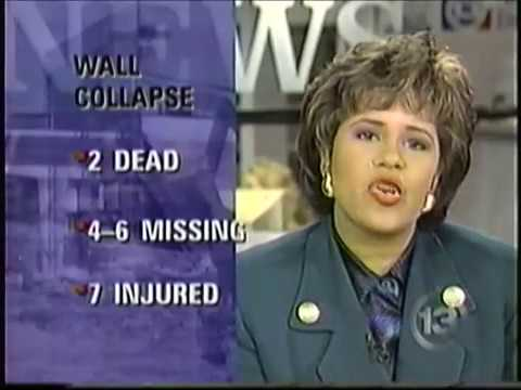 """KTRK-TV """"Live at Five"""" - Northline Mall Wall Collapse Coverage [January 30, 1997]"""