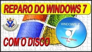 Manutenção de Computador - Dica 21 - Como REPARAR o WINDOWS 7 com o CD de reparação.