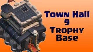 Clash Of Clans - TH9 War/Trophy Base