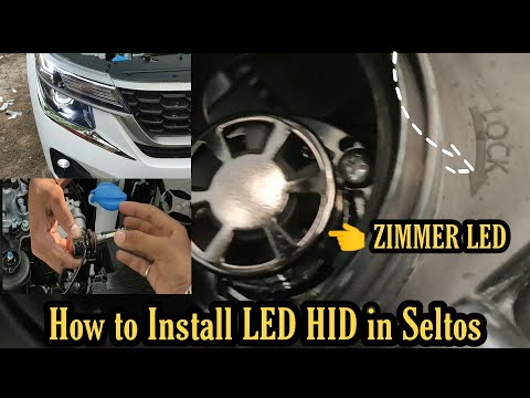 How To Install LED || HID in Kia SELTOS All Model || Zimmer | Crystal eye | Night eye | DIY | Muters