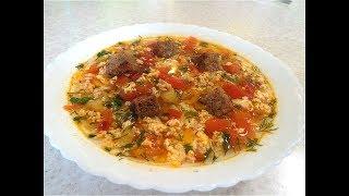 Суп с яйцами -Помидорный.  Вкусно на скорую руку! Постное блюдо. ПП рецепт.