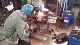 アーク裏波溶接/パイプ横付け/Arc welding