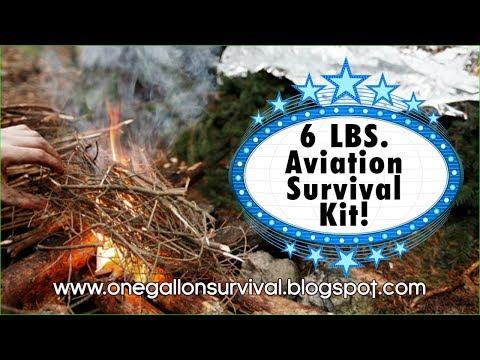 Emergency Aviation Survival Kit, 6 Lb. Aviation Survival Kit, One Gallon Aviation Survival Kit.