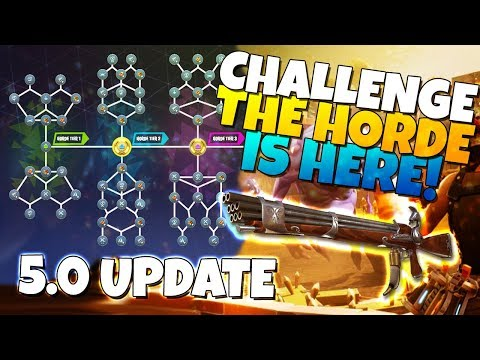 CHALLENGE THE HORDE IS HERE! 5.0 Update   Fortnite Save The World