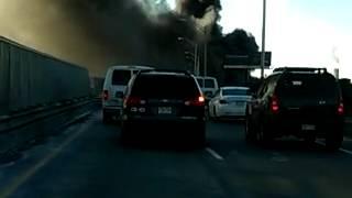 NJ Pulaski Skyway fire smokes recorded on tape #2