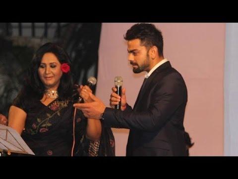 Virat Kohli Singing Jo Wada Kiya Wo Nibhana Padega & Pani Da Rang Official
