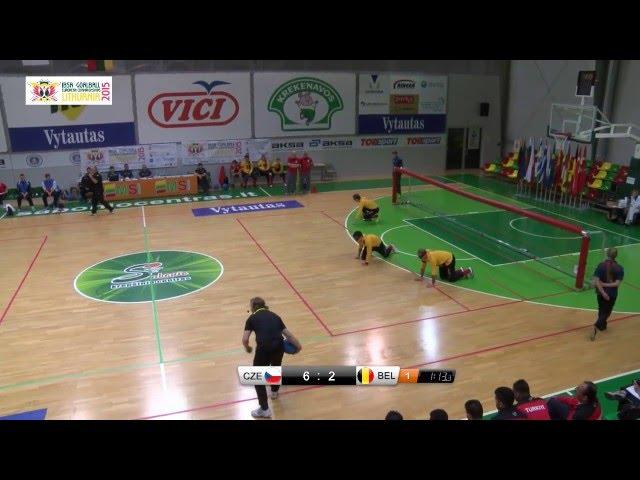 41 Czech Republic   Belgium A1 B4 Men 2015 IBSA Goalball European Championships Lithuania