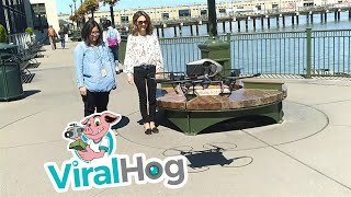 Pizza Delivery by Drone || ViralHog