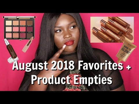August 2018 Favorites + Product Empties! thumbnail