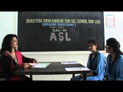 ASL XI CBSE of BVM SEN. SEC. SCHOOL, USN, LUDHIANA.