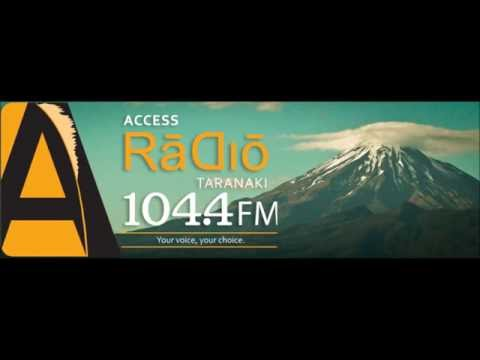 2014 - Andy Irvine with Anand – 104.4FM Access Radio Taranaki