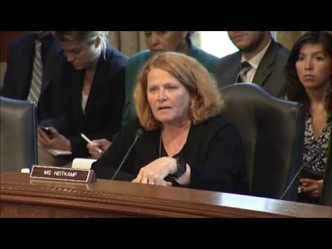 Heitkamp Speaks at Indian Affairs Hearing