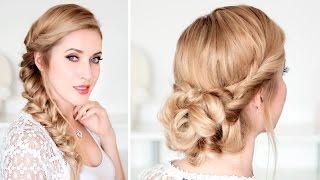 Причёски на выпускной, свадьбу, быстро и легко, самой себе, для средних/длинных волос