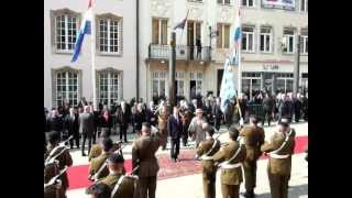 Grand Duke Henri welcomes Queen Beatrix