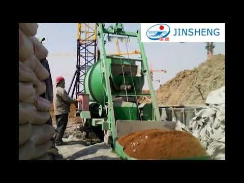 Jinsheng Concrete Mixing Machine JZM450 Drum Concrete Mixer Motar Mixer Running Video