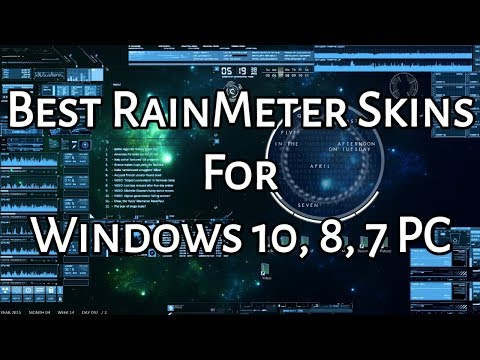15 Best Rainmeter Skins For Windows 10 8 7 Pc 2020 Download Links