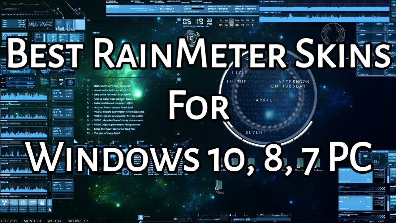20 Best RainMeter Skins For Windows 10,8,7 PC [2019