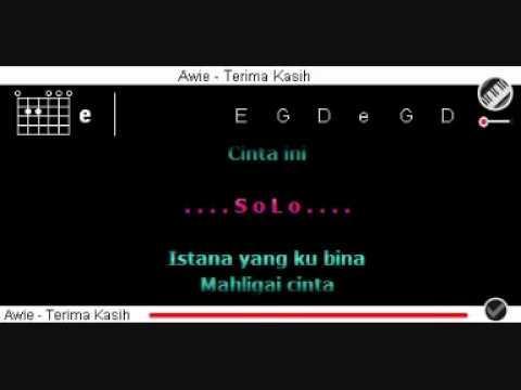 Awie - Terima Kasih dgn Kord + Lirik