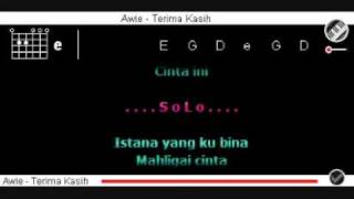 Awie - Terima Kasih dgn Kord + Lirik.flv
