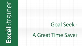 Excel: Use Goal Seek to Calculate Loan Repayment