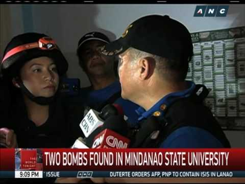 2 bombs found in Mindanao State University