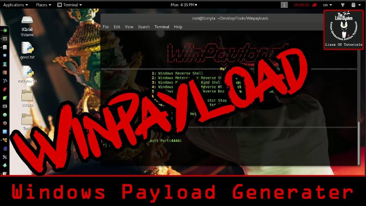 WinPayloads - Generate Payload Hack Windows on Kali Linux [HD] ✓