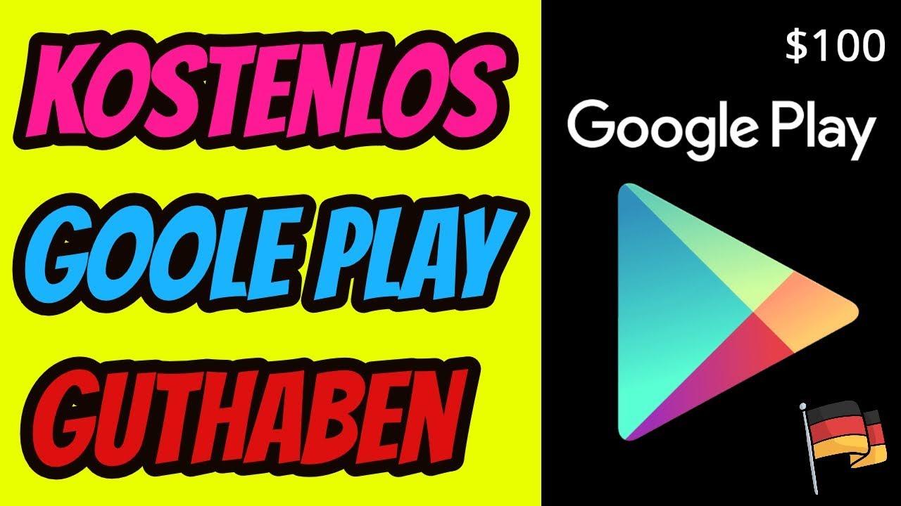 Kostenlos Google Play Guthaben