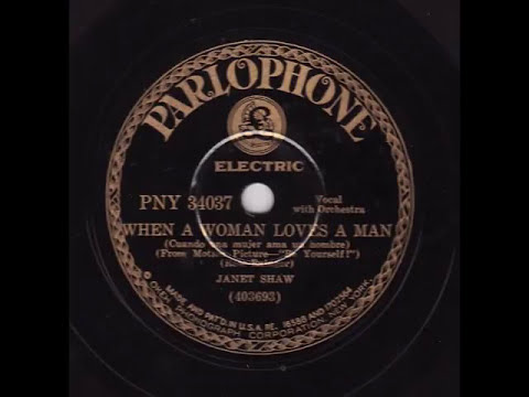 Annette Hanshaw - When A Woman Loves Man - Parlophone PNY-34037