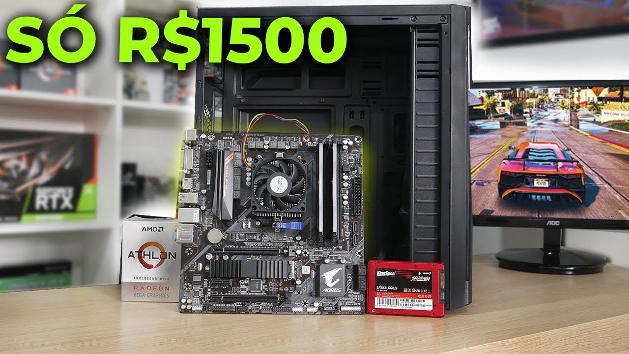 PC GAMER POR R$1500 EXISTE! ESSE É O IDEAL NESSE PREÇO! (C/TESTE GTA V E MAIS)