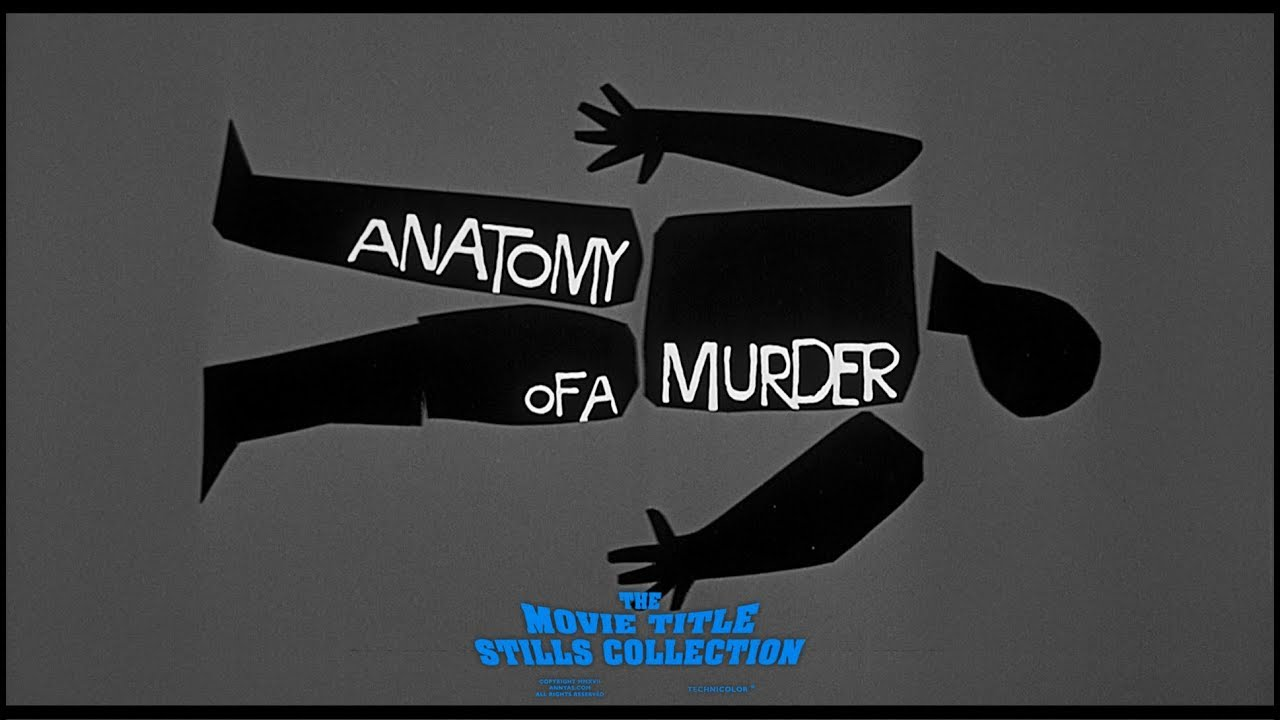 Saul Bass: Anatomy of a Murder (1959) title sequence - YouTube