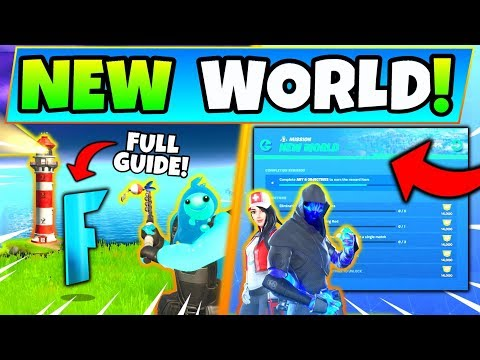 Fortnite NEW WORLD CHALLENGES CHAPTER 2: Landmarks, Hidden F, Fishing Rod (Season 11)