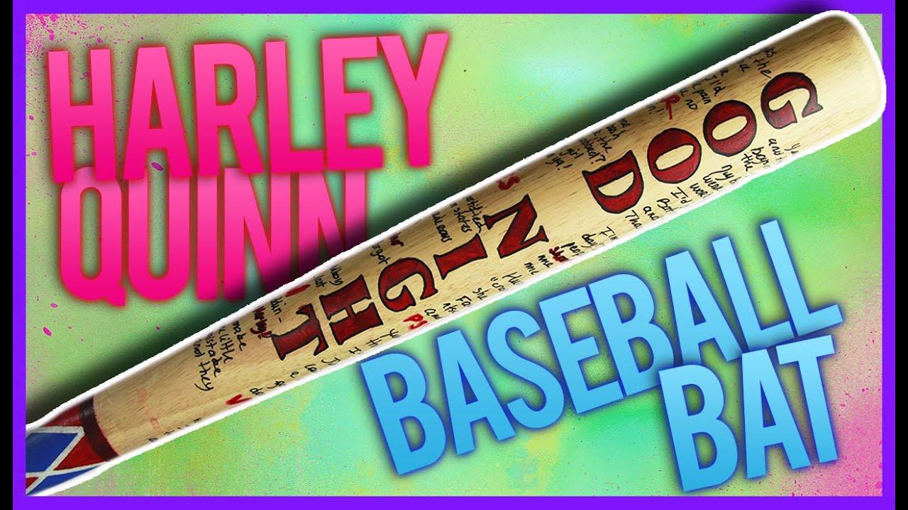 harley quinn baseball bat diy youtube. Black Bedroom Furniture Sets. Home Design Ideas