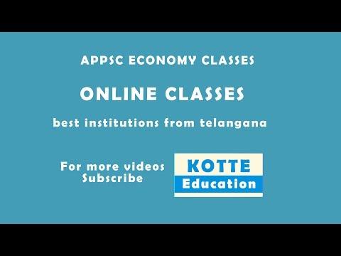 APPSC ECONOMY CLASSES