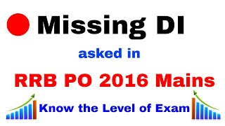 Missing DI Problem asked in ibps rrb po 2016 [ In Hindi ] 2017 Video