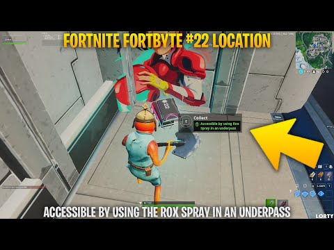 Fortnite Fortbyte #22 - Accessible by using the Rox Spray in an underpass