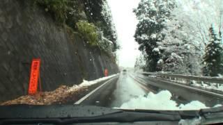 【車載動画】国道122号 大間々~足尾~日光【雪景色】