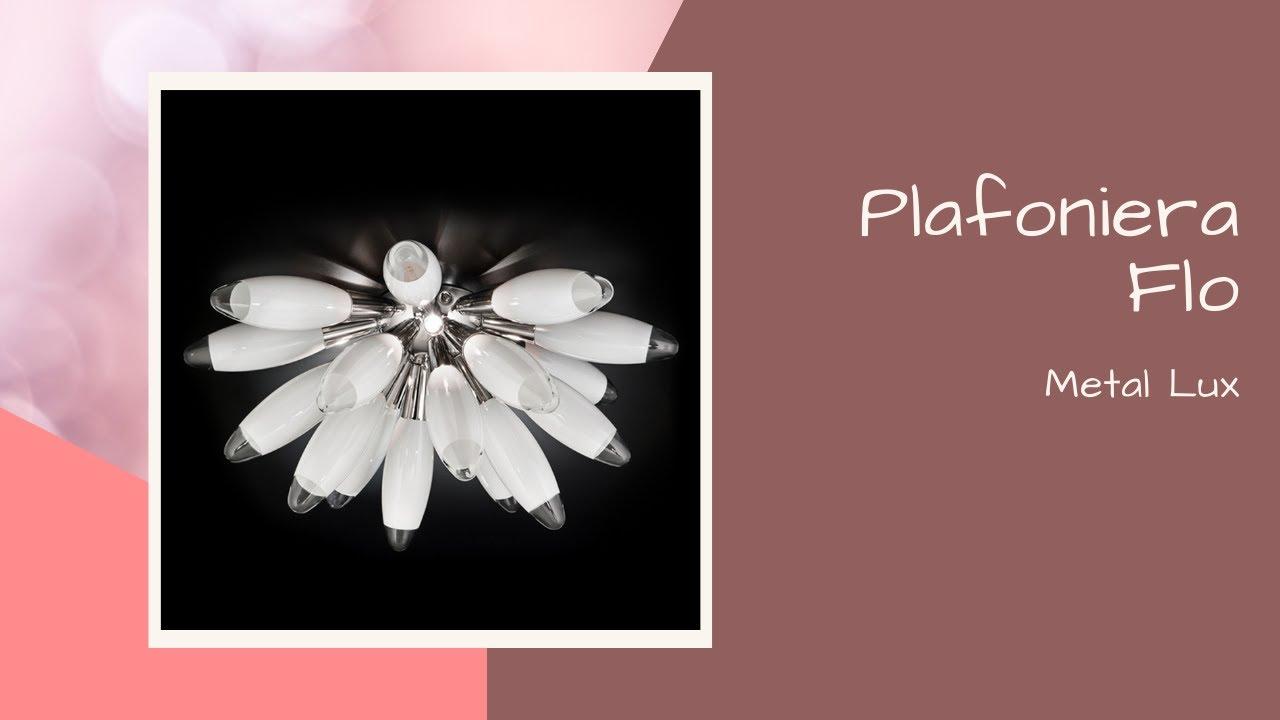 Plafoniere Per Soggiorno : Plafoniera in vetro flo per soggiorno e camera da letto youtube