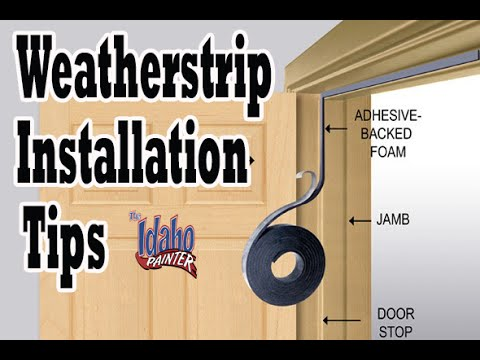 remove install door weatherstrips house weather stripping hacks