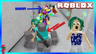 THE SHERIFF SHOOTS JUST IN TIME!! (Roblox Murder Mystery 2)
